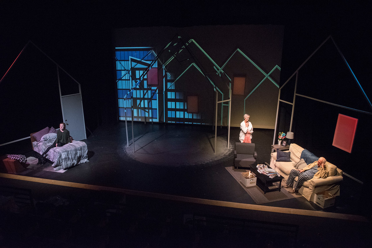 Anastasia Davidson, Anne Sandoe, and Jim Hunt in BETC's 2018 production of Going to a Place Where You Already Are by Bekah Brunstetter (photo: Michael Ensminger)